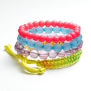SO Bead Stretch and Braided Bracelet Set