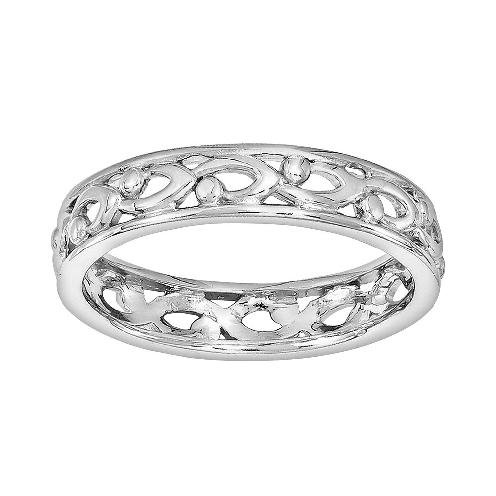 Stacks & Stones Sterling Silver Openwork Stack Ring