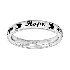 Stacks & Stones Sterling Silver 'Hope' Stack Ring