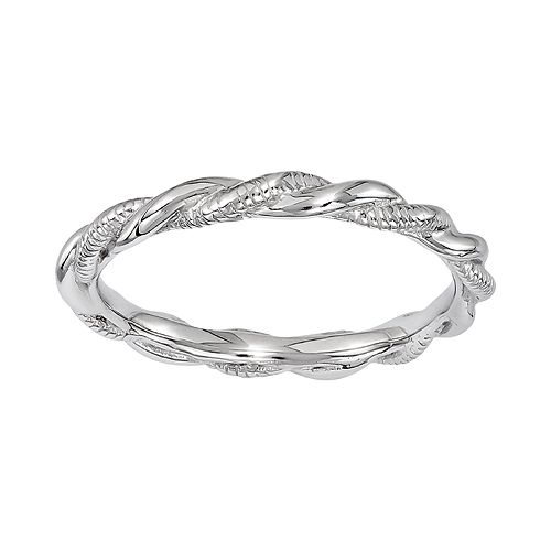 Stacks & Stones Sterling Silver Twist Ring