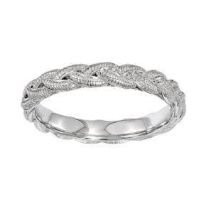 Stacks and Stones Sterling Silver Braided Stack Ring