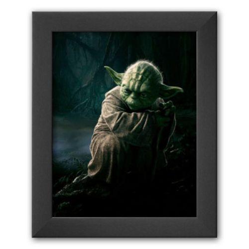 Art.com Star Wars Movie Yoda Glossy Photo Photograph Print Framed Art Print
