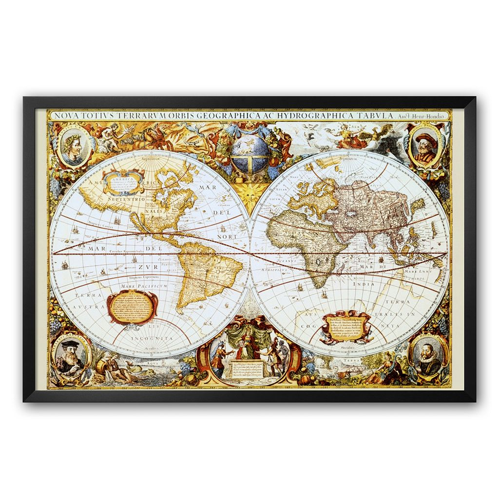 Art.com Map of the World Framed Art Print