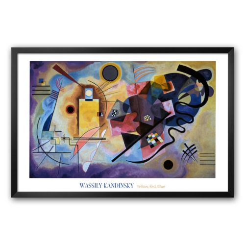 Art.com Yellow, Red and Blue, c. 1925 Framed Art Print by Wassily Kandinsky