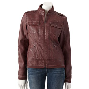 SONOMA life + style Faux-Leather Motorcycle Jacket