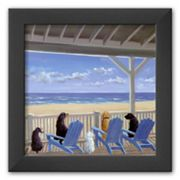 Art.com Dogs on Deck Chairs Framed Art Print by Carol Saxe