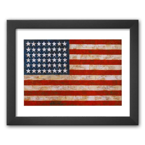 Art.com Flag, 1954-55 Framed Art Print by Jasper Johns