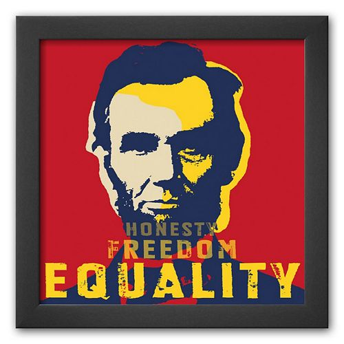 Art.com Abraham Lincoln: Honesty, Freedom, Equality Framed Art Print
