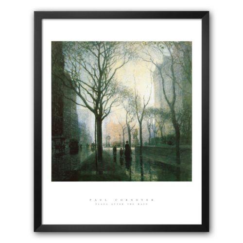 Art.com Plaza (After the Rain) Framed Art Print by Paul Cornoyer