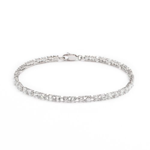Silver Plated Cubic Zirconia B...
