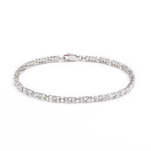 Silver Plated Cubic Zirconia Bracelet