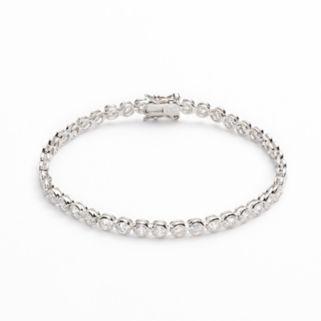 Silver Plated Cubic Zirconia Bracelet