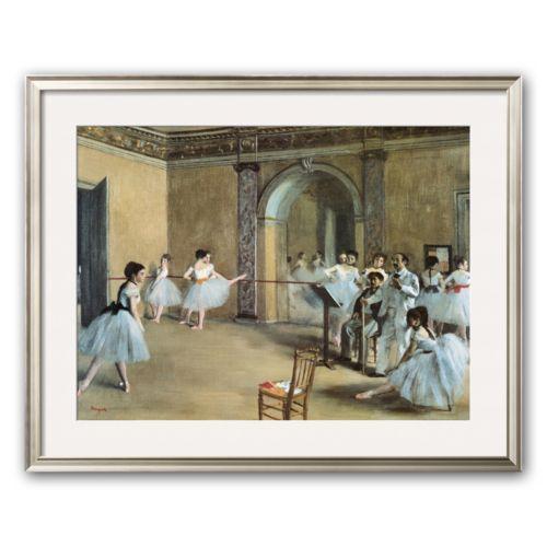 Art.com The Dance Foyer at the Opera on the Rue Le Peletier Framed Art Print by Edgar Degas