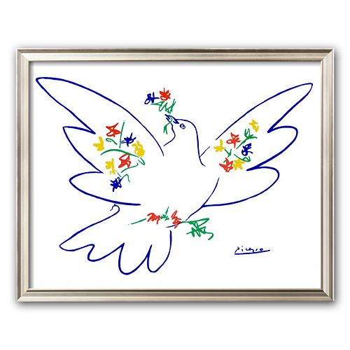 "Art.com ""Dove of Peace"" Framed Art Print by Pablo Picasso"