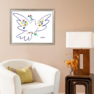 Art.com Dove of Peace Framed Art Print by Pablo Picasso