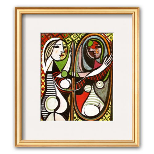 Art.com Girl Before a Mirror, c.1932 Framed Art Print by Pablo Picasso