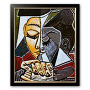 Art.com 'Tete d'une Femme Lisant' Medium Framed Art Print by Pablo Picasso
