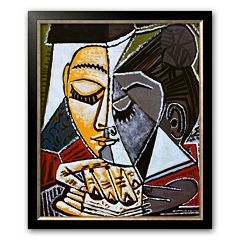 Art.com 'Tete d'une Femme Lisant' Medium Framed Art Print by Pablo Picasso