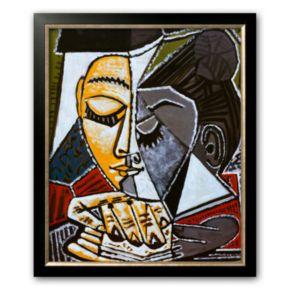 "Art.com ""Tete d'une Femme Lisant"" Medium Framed Art Print by Pablo Picasso"