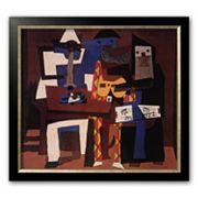 Art.com 'Three Musicians, c.1921' Allegro Bronze Framed Art Print by Pablo Picasso