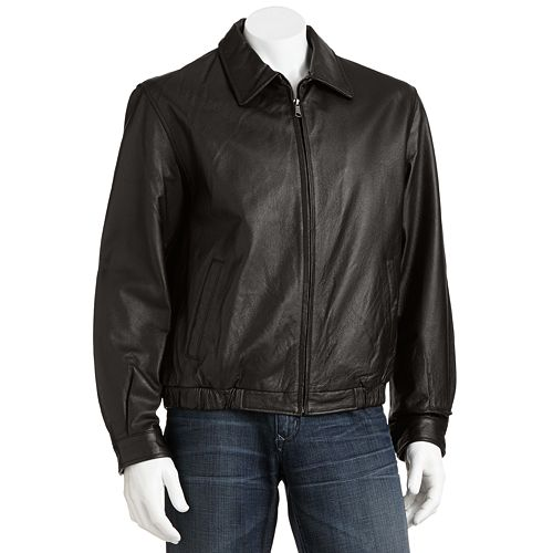 bf93e86ce Croft & Barrow® Leather Bomber Jacket - Men