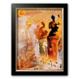 """Art.com """"The Hallucinogenic Toreador, c.1970"""" Framed Art Print by Salvador Dali"""