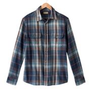 SONOMA life + style Plaid Flannel Casual Button-Down Shirt - Big and Tall