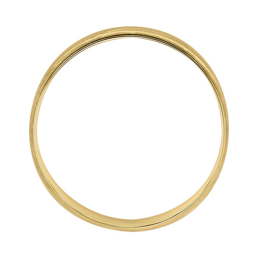 Cherish Always 10k Gold Two Tone Wedding Band - Men