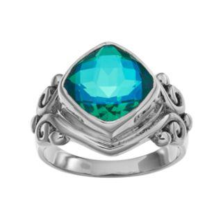 Caribbean Blue Quartz Sterling Silver Ring