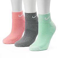 Women's Nike 3-pk. Quarter Crew Socks