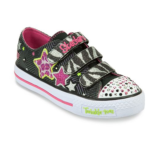 Skechers Twinkle Toes Shuffles Wild Onez Girls' Light Up Shoes
