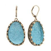 Rock and Republic Gold Tone Simulated Drusy Drop Earrings