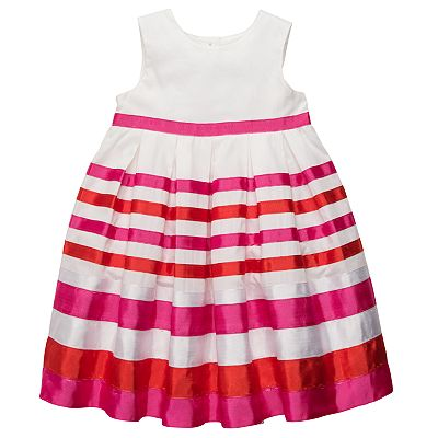 Carter's Striped Pleated Dress - Toddler