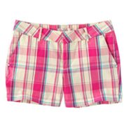 SO Plaid Chino Shorts - Girls 7-16