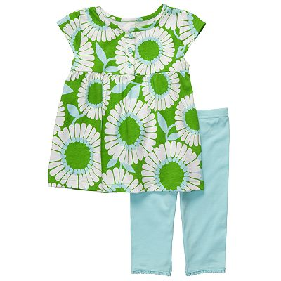 Carter's Floral Top and Leggings Set - Toddler