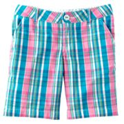 SO Plaid Chino Bermuda Shorts- Girls 7-16