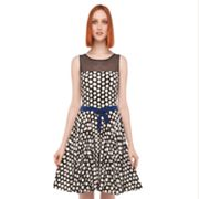 Kamalikulture Polka-Dot Fit and Flare Dress