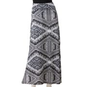 Lily Rose Aztec Print Maxi Skirt - Juniors
