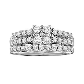 Love Always Princess-Cut Diamond Engagement Ring Set in Platinum Over Silver (3/4 ct. T.W.)