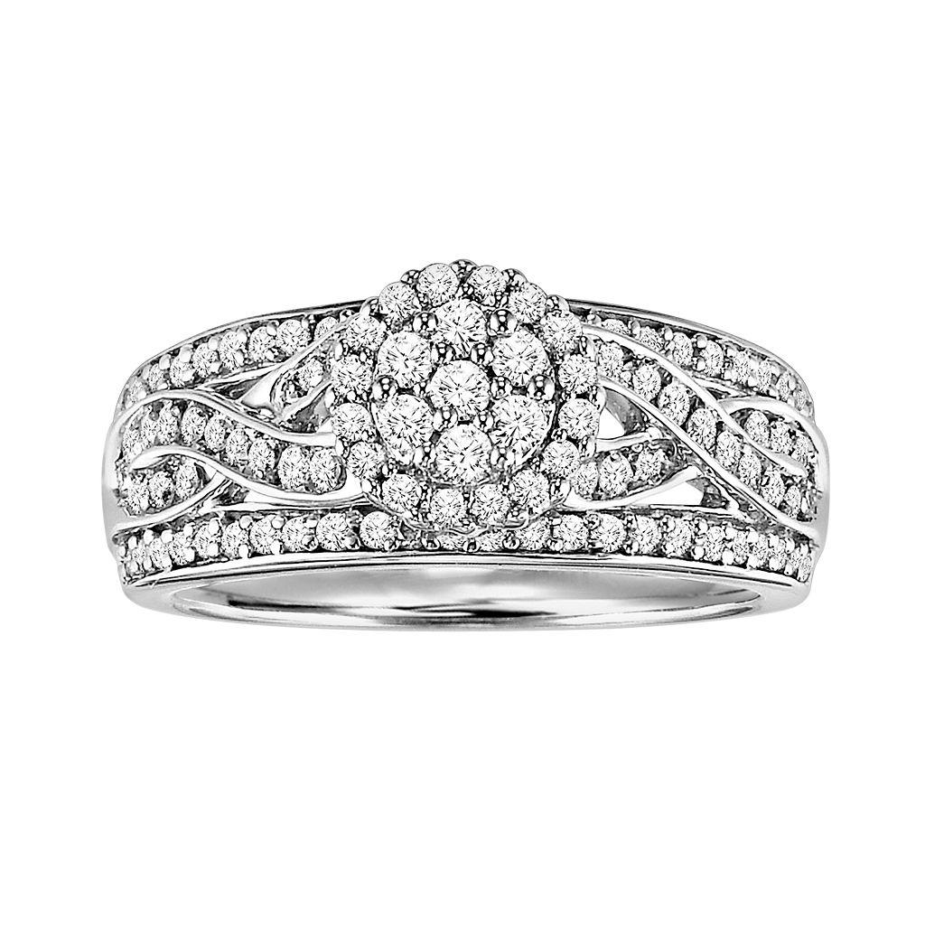 Love Always Platinum Over Silver 3/4-ct. T.W. Diamond Ring