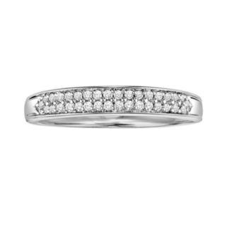 Love Always Platinum Over Silver 1/6-ct. T.W. Diamond Wedding Ring