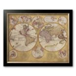 "Art.com ""Antique Map, Globe Terrestre, 1690"" Framed Art Print by Vincenzo Coronelli"