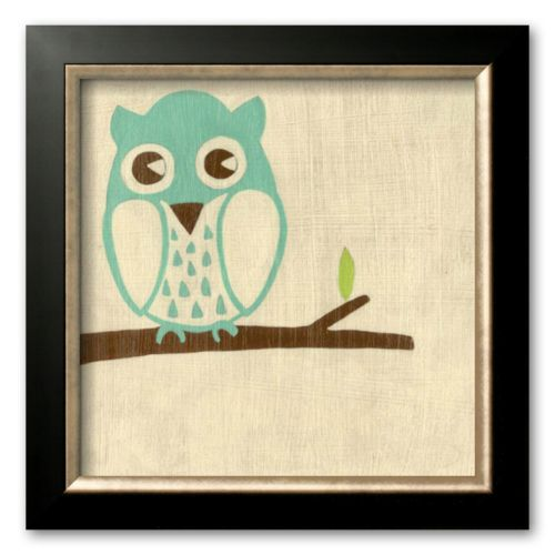 Art.com Best Friends - Owl Framed Art Print by Chariklia Zarris
