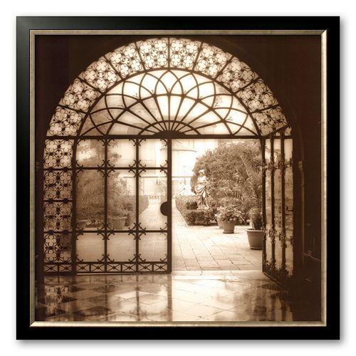 Art.com Courtyard in Venezia Framed Art Print by Alan Blaustein