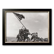 Art.com 'Flag Raising on Iwo Jima, c.1945' Framed Art Print by Joe Rosenthal