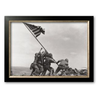 Art.com Flag Raising on Iwo Jima, c.1945 Framed Art Print by Joe Rosenthal