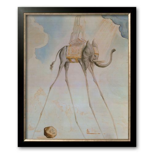 Art.com L'Elephante Giraffe Framed Art Print By Salvador Dali