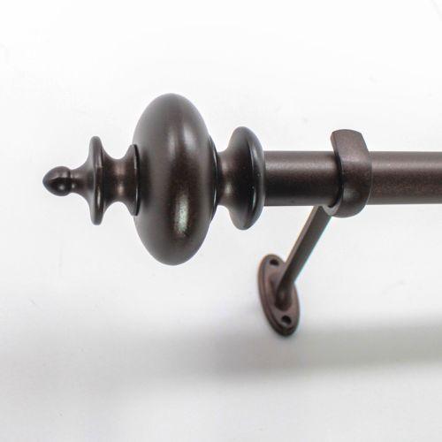 "Decopolitan Urn Copper Finish Adjustable Curtain Rod – 18"" – 36"""