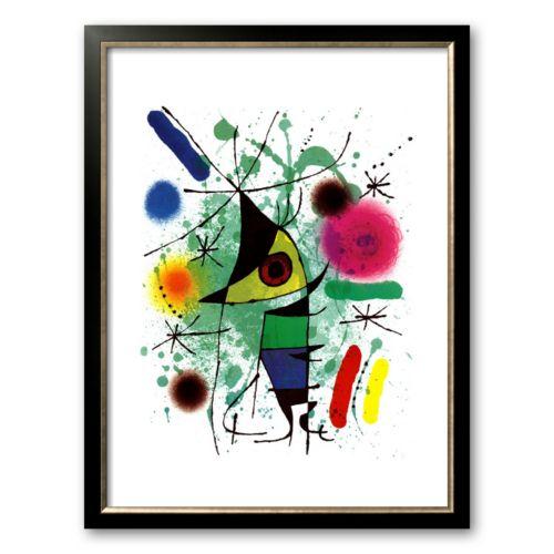 Art.com The Singing Fish Framed Art Print by Joan Miró