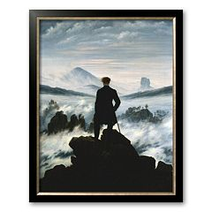 Art.com 'The Wanderer Above the Sea of Fog, c.1818' Framed Art Print by Caspar David Friedrich